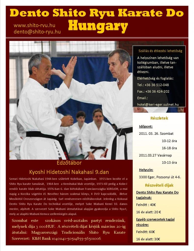 Hidetoshi Nakahashi 9. dan Shito Ryu edzőtábor